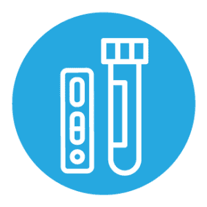 Combined Antigen and PCR Test Icon