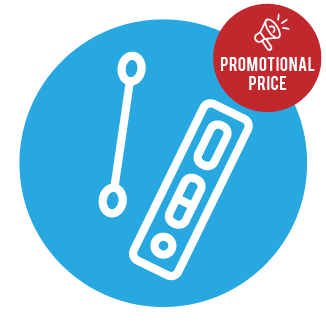 Antigen Test Icon with Promotional Price